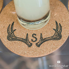 Woodland Pretty Personalised Monogram Antler Textured Rubber Stamps