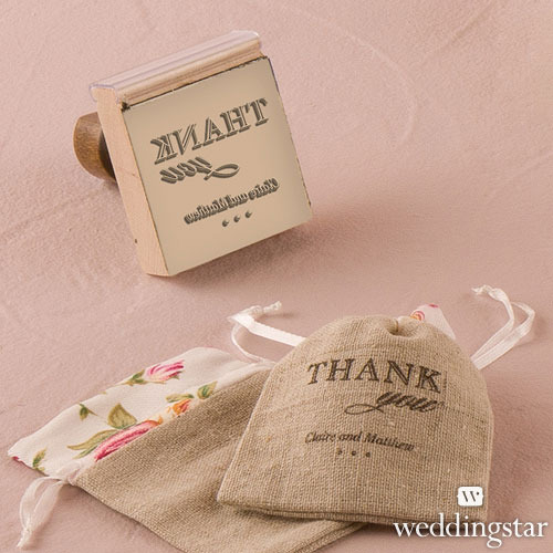 http://www.weddingfavoursaustralia.com.au/products/burlap-chic-thank-you-personalised-rubber-stamps