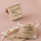 Burlap Chic Thank You Personalised Rubber Stamps
