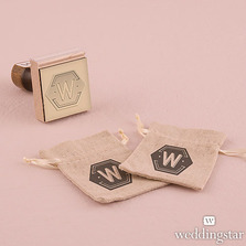 Bistro Bliss Personalised Monogram Rubber Stamps