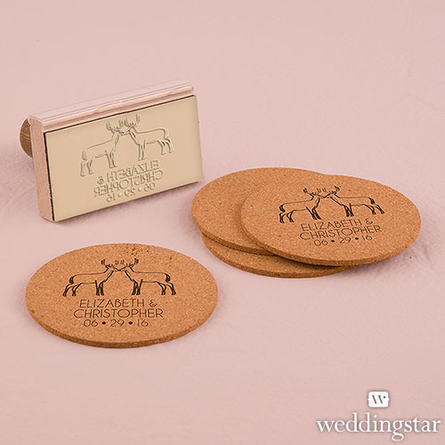 Woodland Style Deer Personalised Rubber Stamps