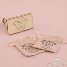 Woodland Style Squirrels And Heart Custom Rubber Stamps