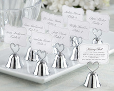 """Kissing Bell"" Place Card/Photo Holder (Set of 24)"""