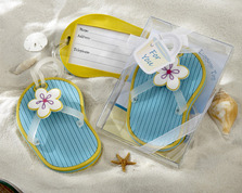 """Flip-Flop Luggage Tag in Beach-Themed Gift Box"""
