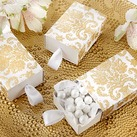 """Treasures"" Gold Damask Favor Box (Set of 24)"