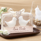"""Love Birds"" White Bird Tea Light Candles"
