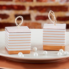 (Set of 24) Striped Copper Foil Favor Box