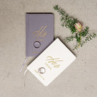 Personalised Linen Pocket Journal - His Vows Emboss