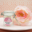 Personalised Wedding Glass Jar Favours With Wire Snap