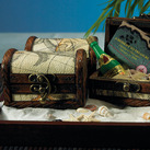 """Mini Treasure Chest Beach Wedding Favours (Set of 6)"""