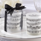 "Kate Aspen """"Music of the Heart"" Frosted-Glass Tealight Holder (Set of 4)"""
