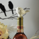"""Ceramic Love Bird Bottle Stopper with Gift Packaging"""
