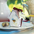 """Sweet Bird House Favour Box (Set of 12)"""