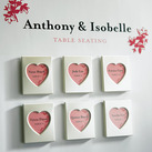 """Mini Magnet Back Aluminium Heart Photo Frame Wedding Favours (Set of 3)"""