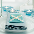 """Seta Celeste Aqua Blue Wedding Favour Gift Purse Boxes (set of 10) """