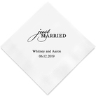 (Set of 100) Just Married Personalised Napkins