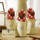 """(Set of 4) Decorative Mini Enamel Pitcher in the French Provincial Style Wedding Favour"""