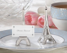 "Kate Aspen """"Evening in Paris"" Eiffel Tower Silver-Finish Place Card/Holder (set of 4) """