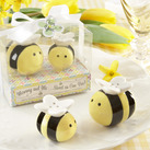 """Mommy and Me...Sweet as Can Bee"" Ceramic Honeybee Salt & Pepper Shakers"