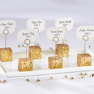 (Set of 6) Gold Glitter Placecard Holders