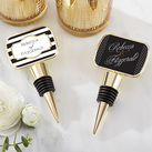 Personalized Gold Bottle Stopper with Epoxy Dome - Classic