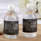 Personalised Water Bottle Labels - Eat, Drink & Be Married