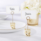 (Set of 6) LOVE Gold Place Card Holder
