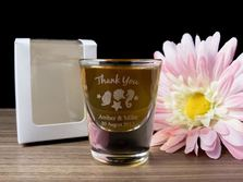 Personalised Engraved Shot Glasses 30ml - Wedding Design