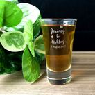 Personalised Engraved Shot Glasses 60ml - Wedding Design