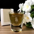 Personalised Engraved Shot Glasses 30ml - Love Birds Design