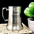 Personalised Engraved Stainless Steel Beer Mug - Will You Be My Groomsmen