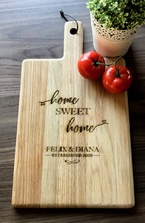 Personalised Engraved Oak Handled Wooden Board Large - House Warming Gift