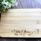 Personalised Engraved Mini Bamboo Serving Board - Wedding Gift, Gift for Bride and Groom