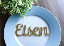 Gold Mirror Acrylic Name Placecards