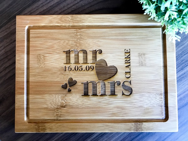 Unusual Wedding Gifts Australia: Personalized Serving Board, Custom Presentation Serving