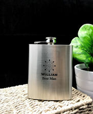 Personalised Engraved Stainless Steel Hip Flask - Will You Be My Groomsman