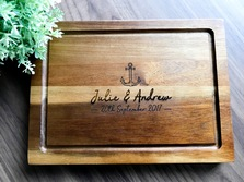 Personalised Acacia Chopping Board, Custom Presentation Serving Board - Wedding Gift