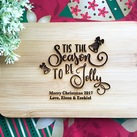 Christmas Gifts - Personalised Engraved Mini Bamboo Serving Board