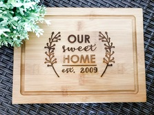 Personalized Serving Board, Custom Presentation Serving Board - House Warming Gift