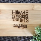 House Warming Gifts - Personalised Engraved Mini Bamboo Serving Board