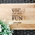 Teacher Appreciation or Thank You Gifts - Personalized Engraved Mini Bamboo Serving Board