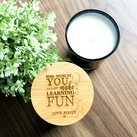 Teacher Thank You Gifts - Personalised Engraved Wooden Lid Scented Candles in a Medium Oxford Tumbler