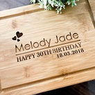 Personalized 18th or 21st or 30th Birthday Chopping Board, Custom Presentation Serving Board