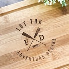 """Let the Adventure Begins"" Personalised Serving Board, Custom Presentation Serving Board - Wedding Gift"