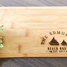 "Personalised Engraved Mini Bamboo Serving Board ""Nautical/Beach"" Design - Wedding Gift 