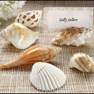 "Kate Aspen ""Shells by the Sea"" Authentic Shell Placecard Holders with Matching Placecards (Set of 6)"