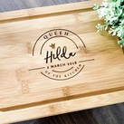 """Queen of the Kitchen"" Personalized Serving Board, Custom Presentation Serving Board - Birthday Gift"