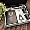 Personalised%20engraved%20black%20gloss%20hip%20flask%20set%20tuxedo%20design
