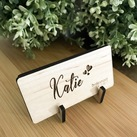 Personalised Engraved Wood Rectangle Wedding Guest Placecards / Place card holder, Seating Place Cards