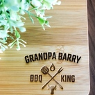 Father's Day Gifts - Personalized Engraved Mini Bamboo Serving Board (BBQ Design)